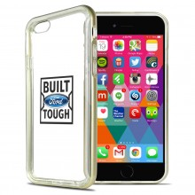 Ford Built Ford Tough iPhone 6 6s Shockproof Clear TPU Case with Gold Metal Bumper Hybrid Phone Case