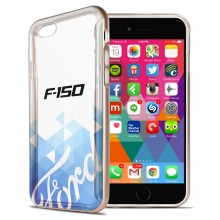 Ford F-150 iPhone 6 6s Shockproof Clear TPU Case with Rose Pink Metal Bumper Hybrid Phone Case