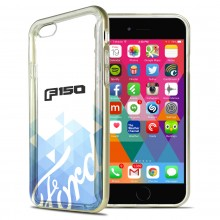 Ford F-150 2015 up iPhone 6 6s Shockproof Clear TPU Case with Gold Metal Bumper Hybrid Phone Case
