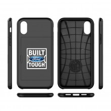 Ford Built Ford Tough iPhone X Black Shockproof with Card Holder Cell Phone Case