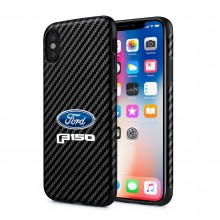 Ford F-150 iPhone X Black Carbon Fiber Texture Leather TPU Shockproof Cell Phone Case