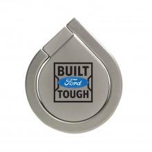 Ford Built Ford Tough Silver 360 Degree Rotation Finger Ring Holder for Cell Phone