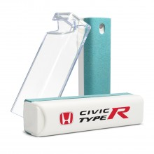 Honda Red Logo Civic Type-R All-in-One Blue Wipe Navigation Screen Cleaner with Clear Cell Phone Stand