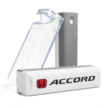 Honda Red Logo Accord All-in-One Gray Wipe Navigation Screen Cleaner with Clear Cell Phone Stand
