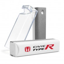 Honda Red Logo Civic Type-R All-in-One Gray Wipe Navigation Screen Cleaner with Clear Cell Phone Stand