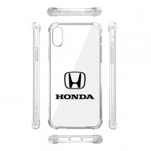 Honda Logo iPhone X Clear TPU Shockproof Cell Phone Case