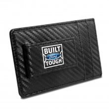 Ford Built Ford Tough Black Carbon Fiber RFID Card Holder Wallet