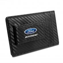 Ford Edge Black Carbon Fiber RFID Card Holder Wallet