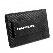 Ford F-150 Raptor 2017 Black Carbon Fiber RFID Card Holder Wallet