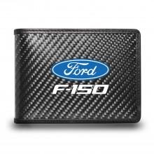 Ford F-150 2009 to 2014 Black Real Carbon Fiber Leather RFID Blocking Bi-fold Wallet