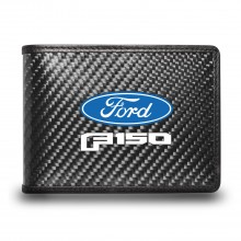 Ford F-150 2015 to 2020 Black Real Carbon Fiber Leather RFID Blocking Bi-fold Wallet