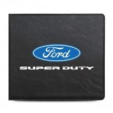 Ford Super-Duty Car Auto Insurance Registration Black PVC Document Holder Wallet