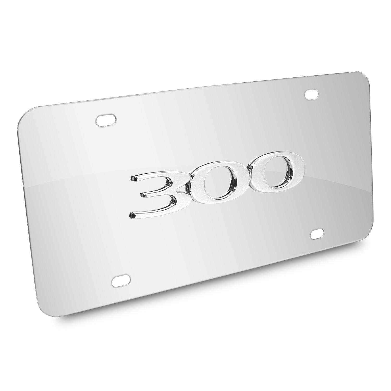 Chrysler 300 3D Logo Chrome Stainless Steel License Plate