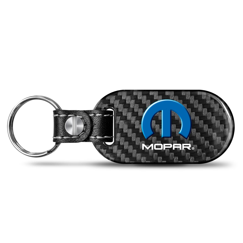 Mopar Real Carbon Fiber Dog-Tag Style Key Chain