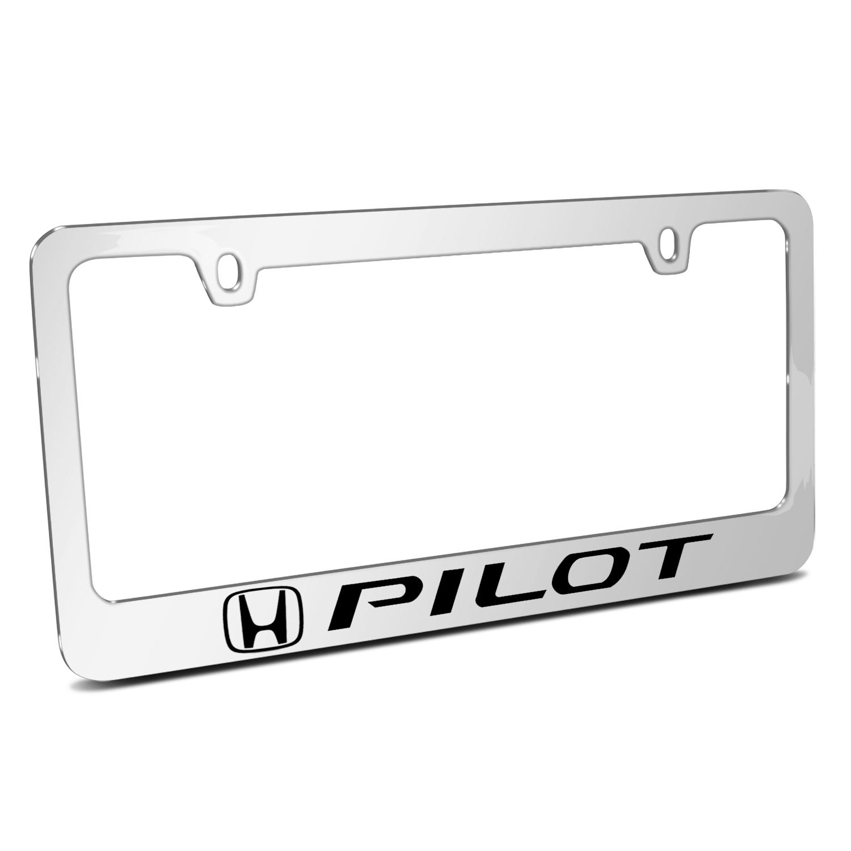 Honda Pilot Mirror Chrome Metal License Plate Frame