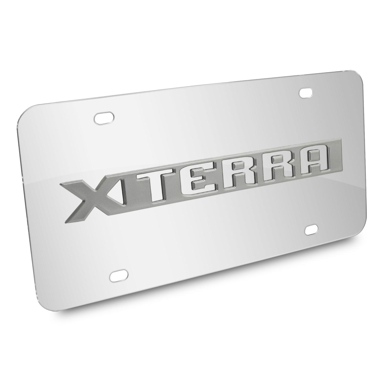 Nissan Xterra Nameplate 3D Logo Chrome Stainless Steel License Plate