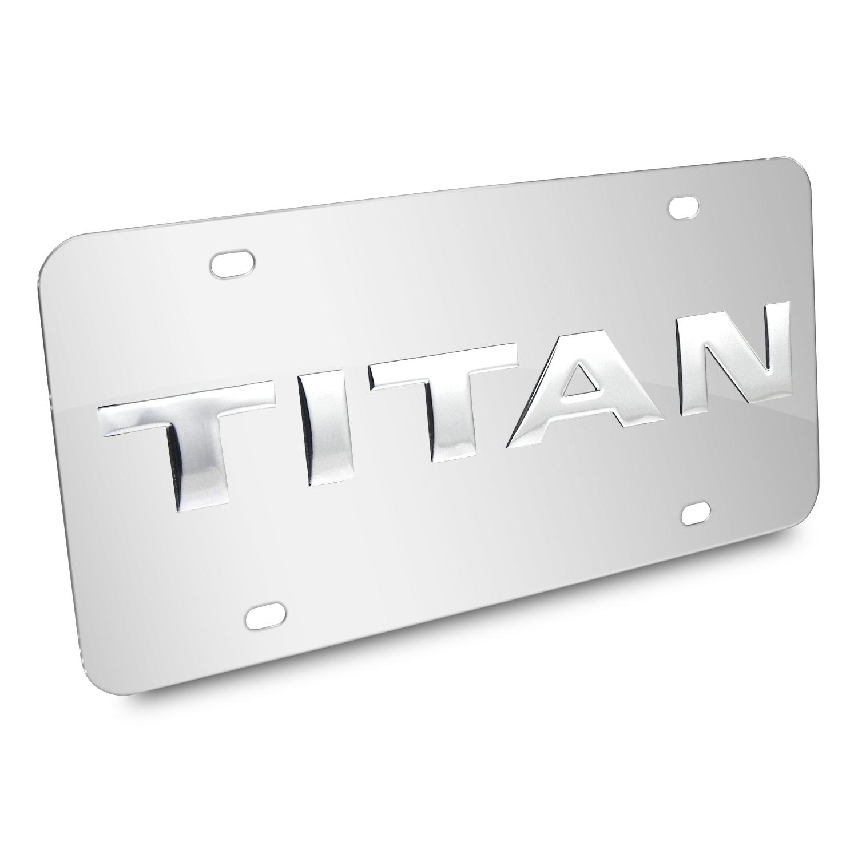 Nissan Titan Nameplate 3D Logo Chrome Stainless Steel License Plate