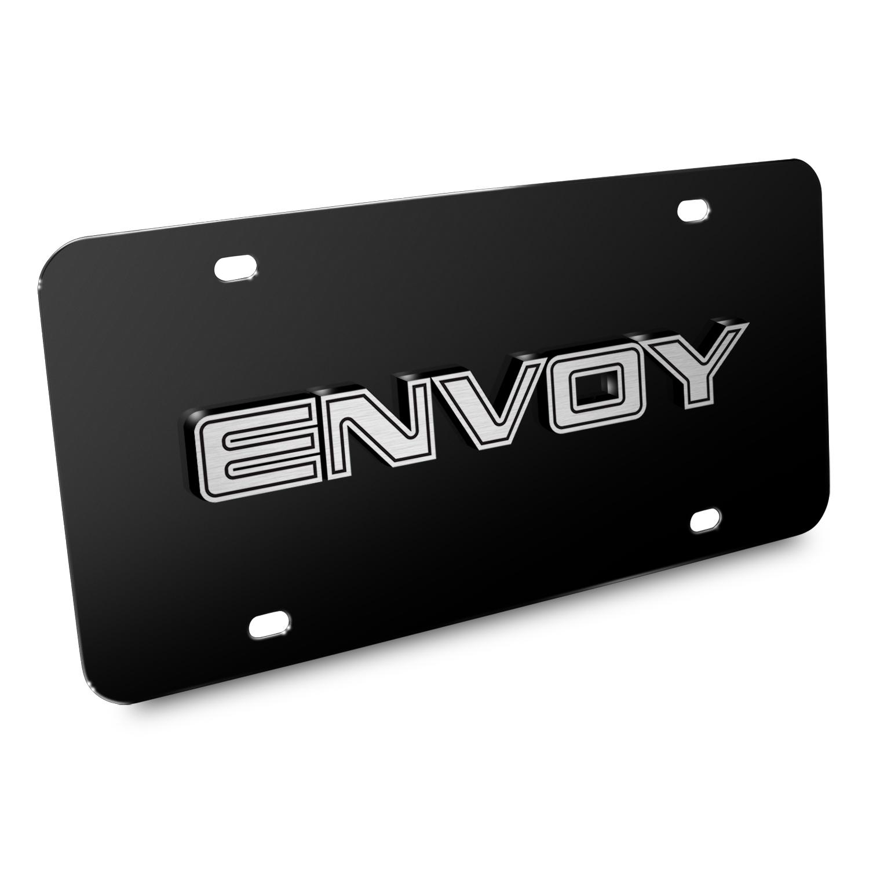 Envoy Nameplate 3D Logo Black Stainless Steel License Plate