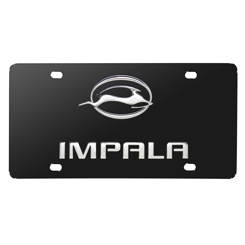 Chevrolet Impala Gazelle 3D Logo Black Stainless Steel License Plate