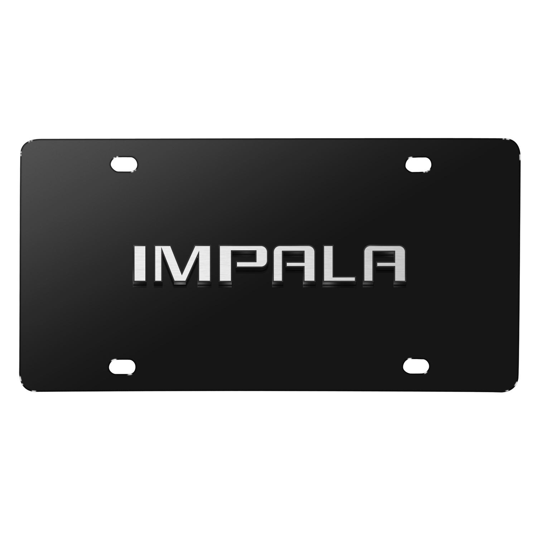 Chevrolet Impala 3D Nameplate Black Stainless Steel License Plate