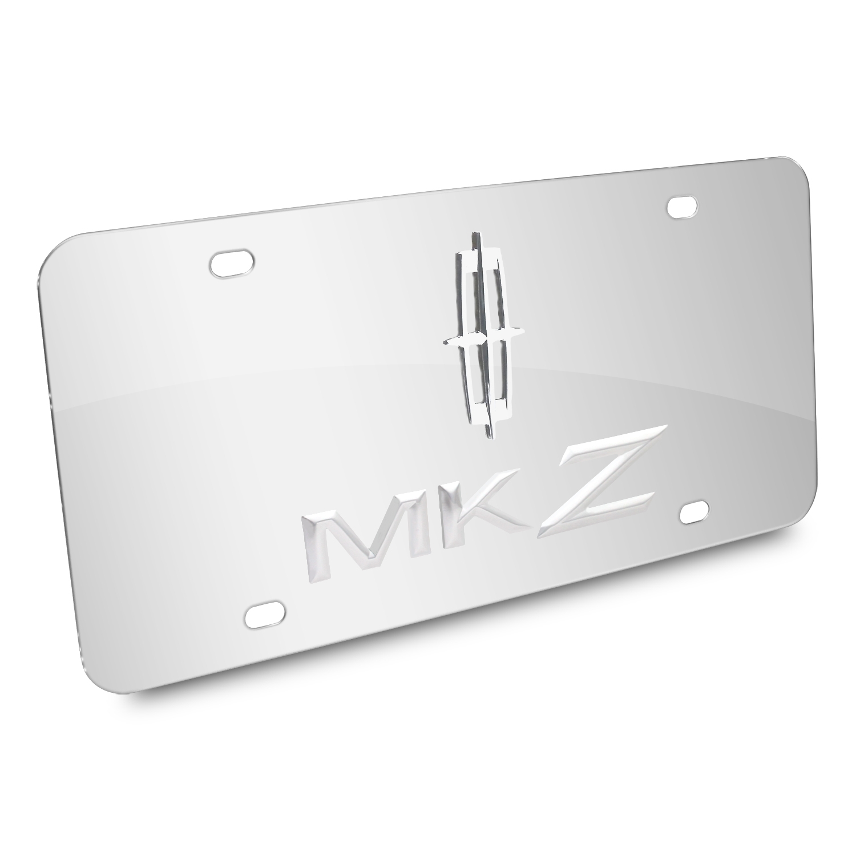 Lincoln MKZ 3D Logo Chrome Stainless Steel License Plate