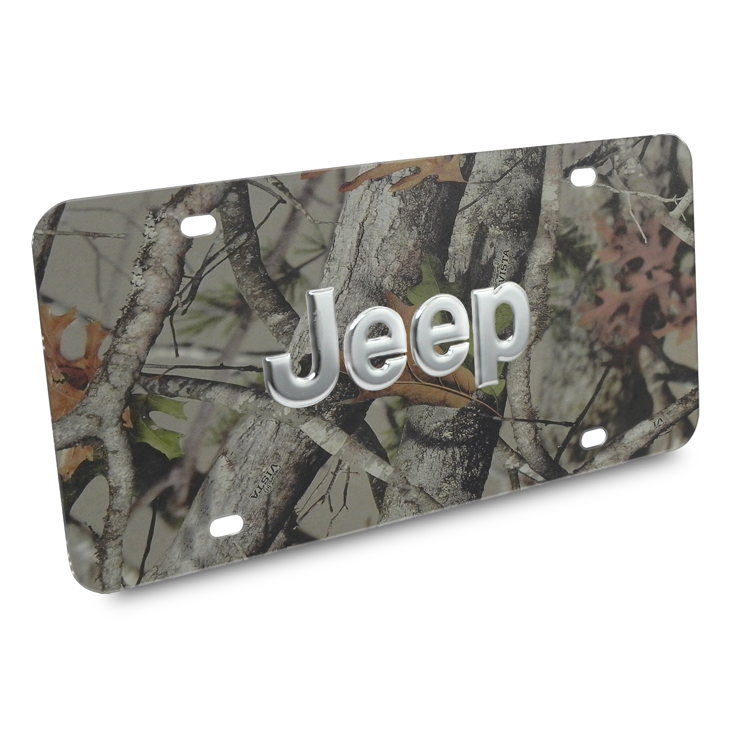 Jeep Nameplate 3D Logo Camo Stainless Steel License Plate
