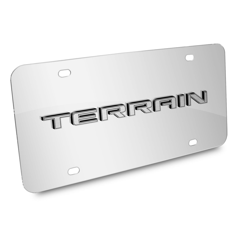 GMC Terrain Nameplate 3D Logo Chrome Stainless Steel License Plate