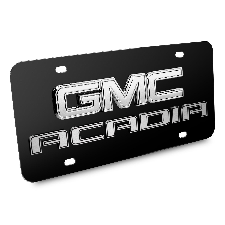 GMC Acadia 3D Logo Black Stainless Steel License Plate