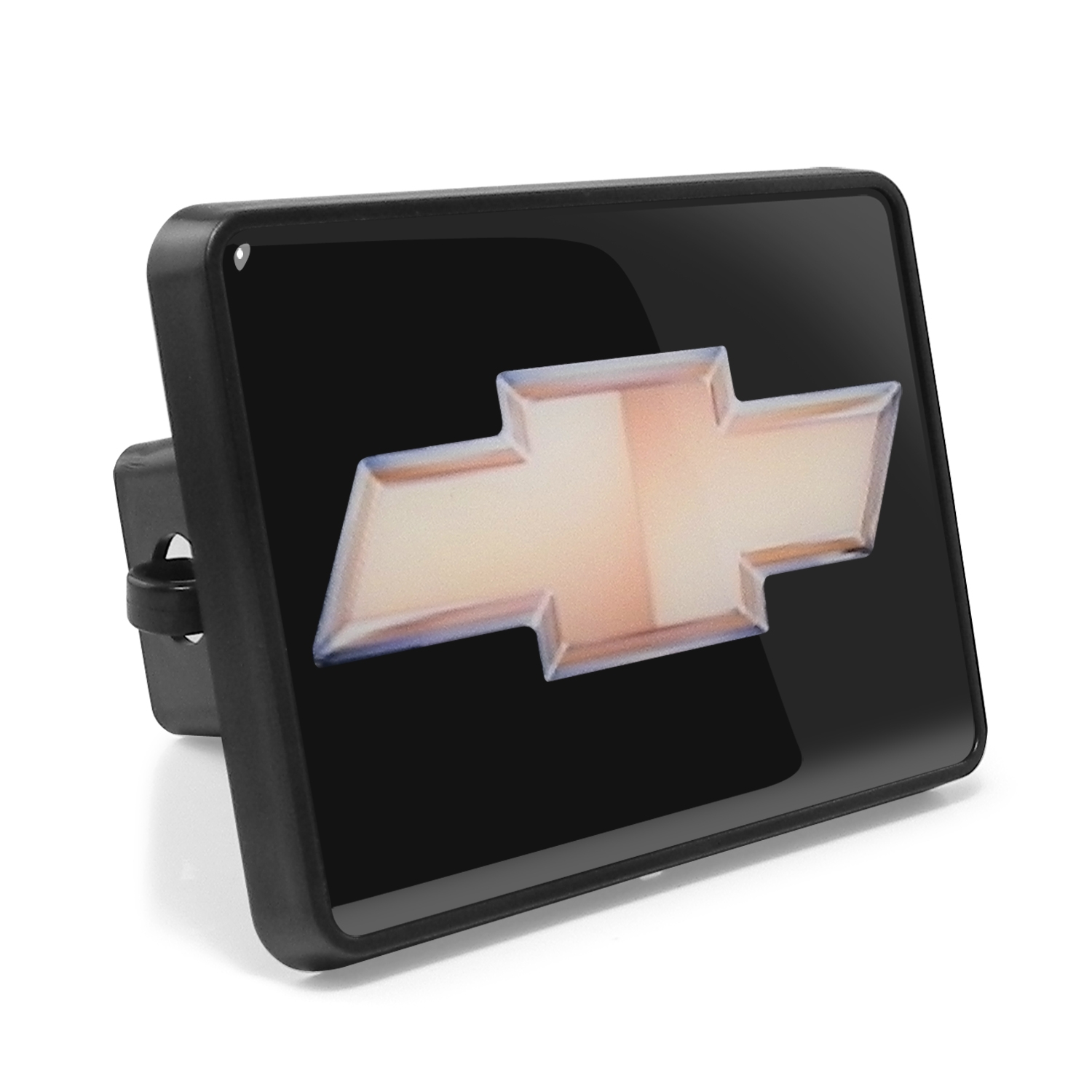 """Chevrolet Gold Bowtie 2"""" Plastic Tow Hitch Cover with Locking Clip"""