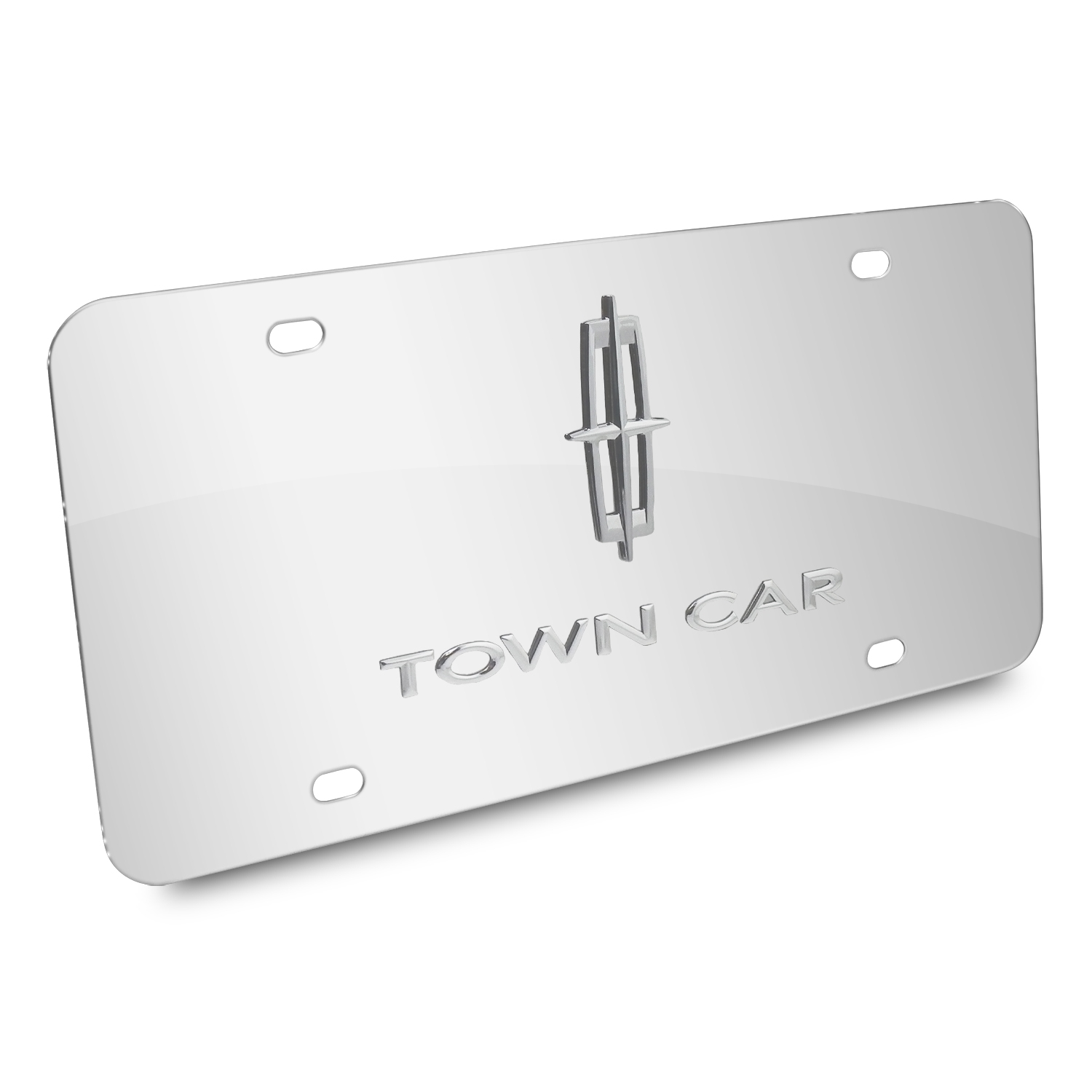 Lincoln Town Car 3D Logo Chrome Stainless Steel License Plate