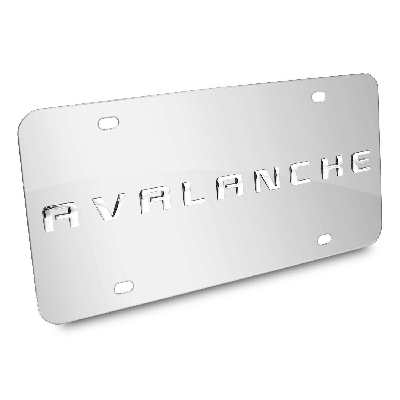 Chevrolet Avalanche Nameplate 3D Logo Chrome Stainless Steel License Plate