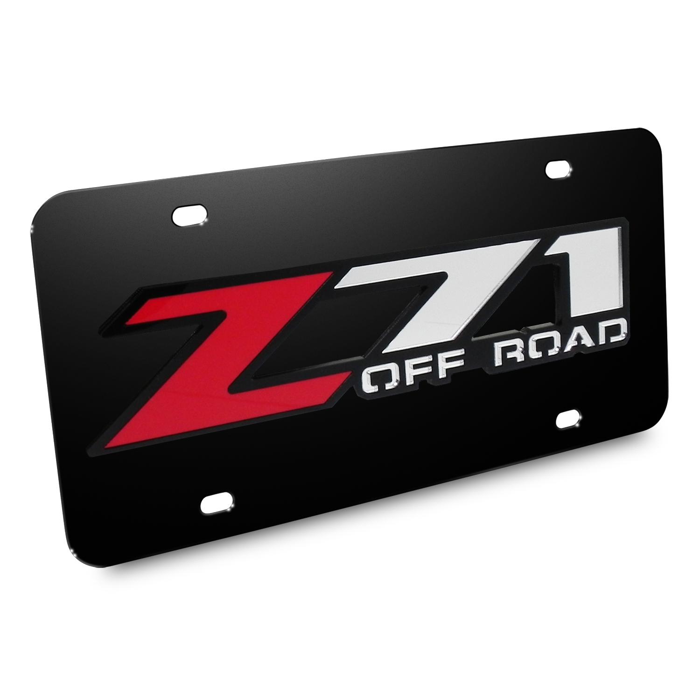 Chevrolet Z71 Offroad 3D Logo Black Stainless Steel License Plate