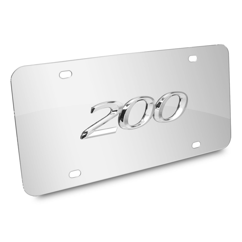Chrysler 200 3D Logo Chrome Stainless Steel License Plate