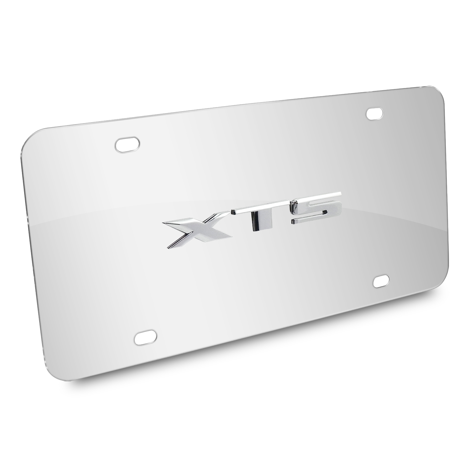 Cadillac XTS Name 3D Logo Chrome Stainless Steel License Plate