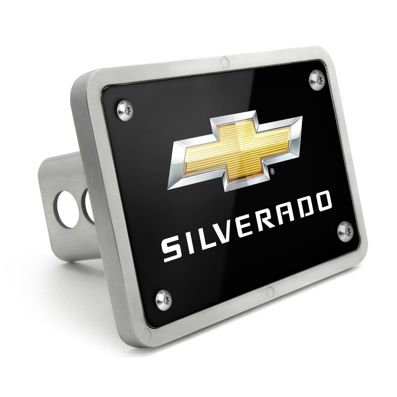 Chevrolet Silverado 2014 UV Graphic Black Billet Aluminum 2 inch Tow Hitch Cover