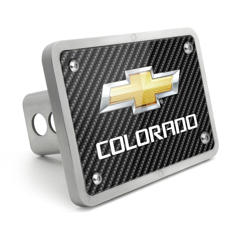 Chevrolet Colorado 2012 UV Graphic Carbon Fiber Texture Billet Aluminum 2 inch Tow Hitch Cover