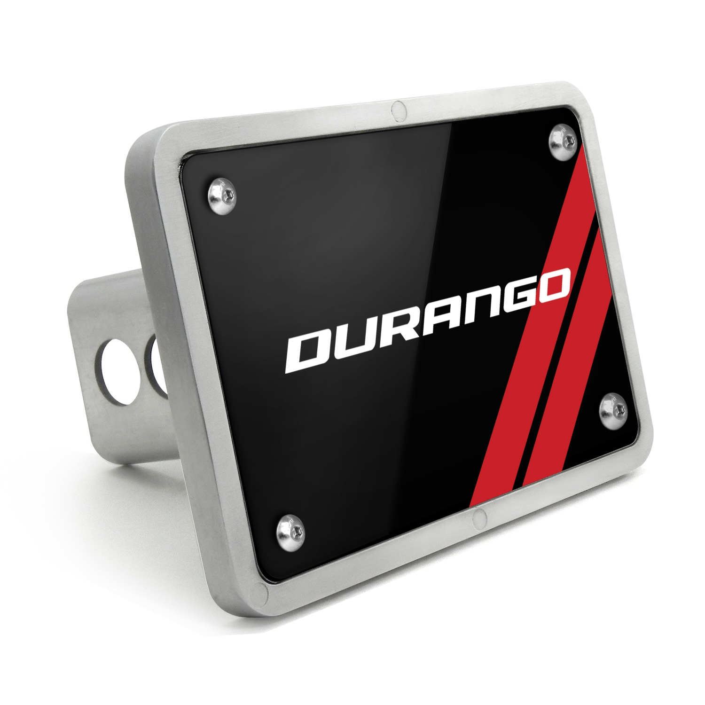 Dodge Durango UV Graphic Black Billet Aluminum 2 inch Tow Hitch Cover