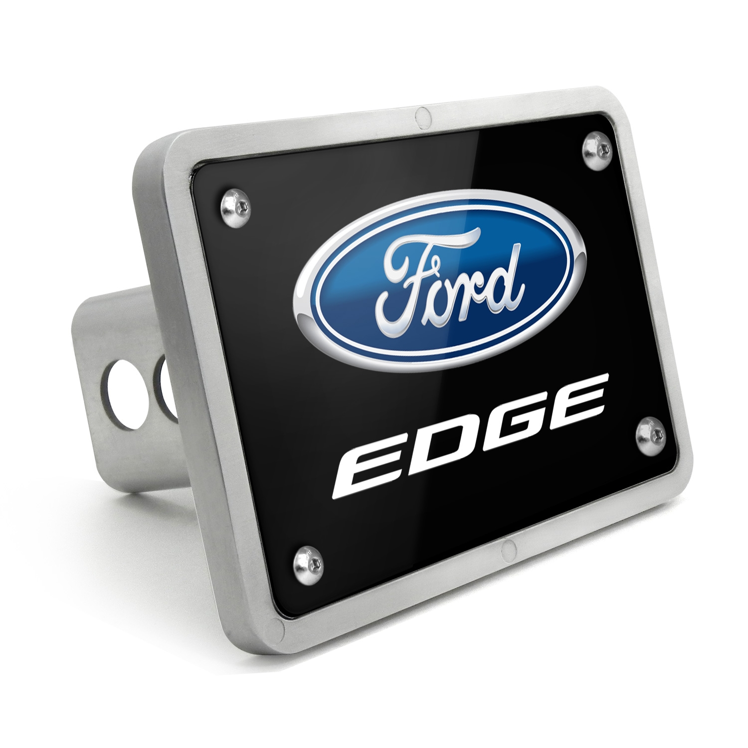 Ford Edge UV Graphic Black Plate Billet Aluminum 2 inch Tow Hitch Cover