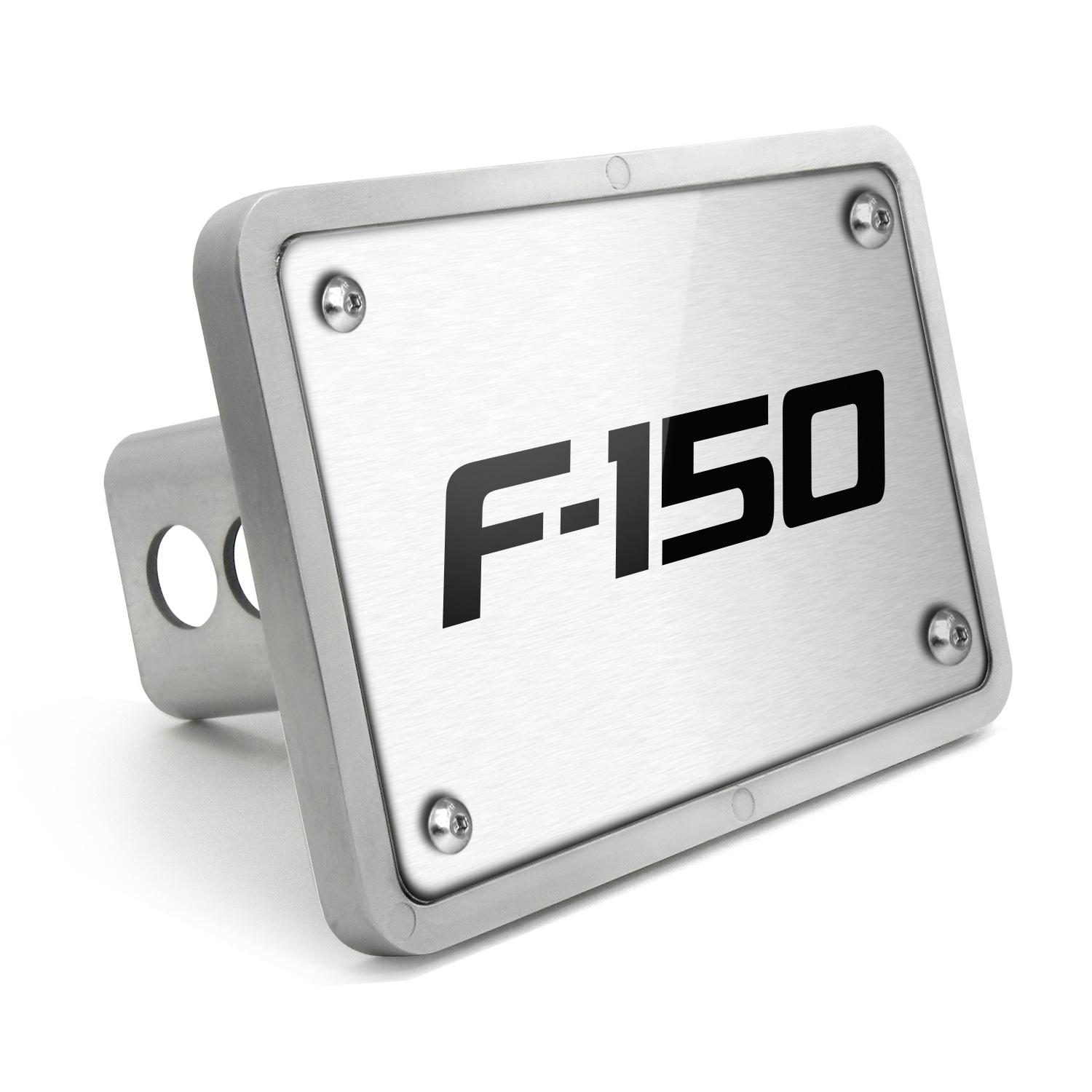 Ford F-150 2009-2014 UV Graphic Brushed Silver Billet Aluminum 2 inch Tow Hitch Cover