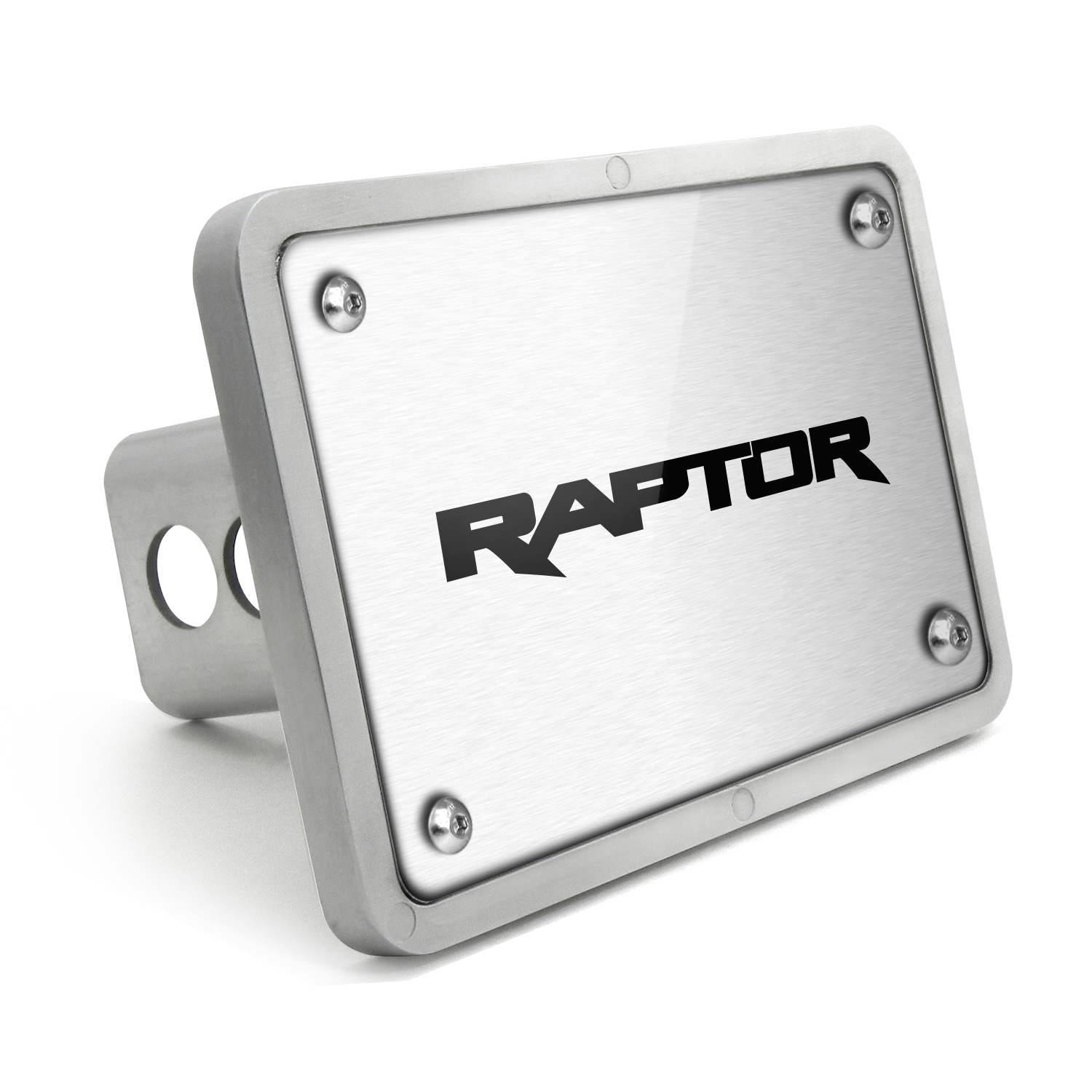 Ford Raptor 2017 UV Graphic Brushed Silver Billet Aluminum 2 inch Tow Hitch Cover