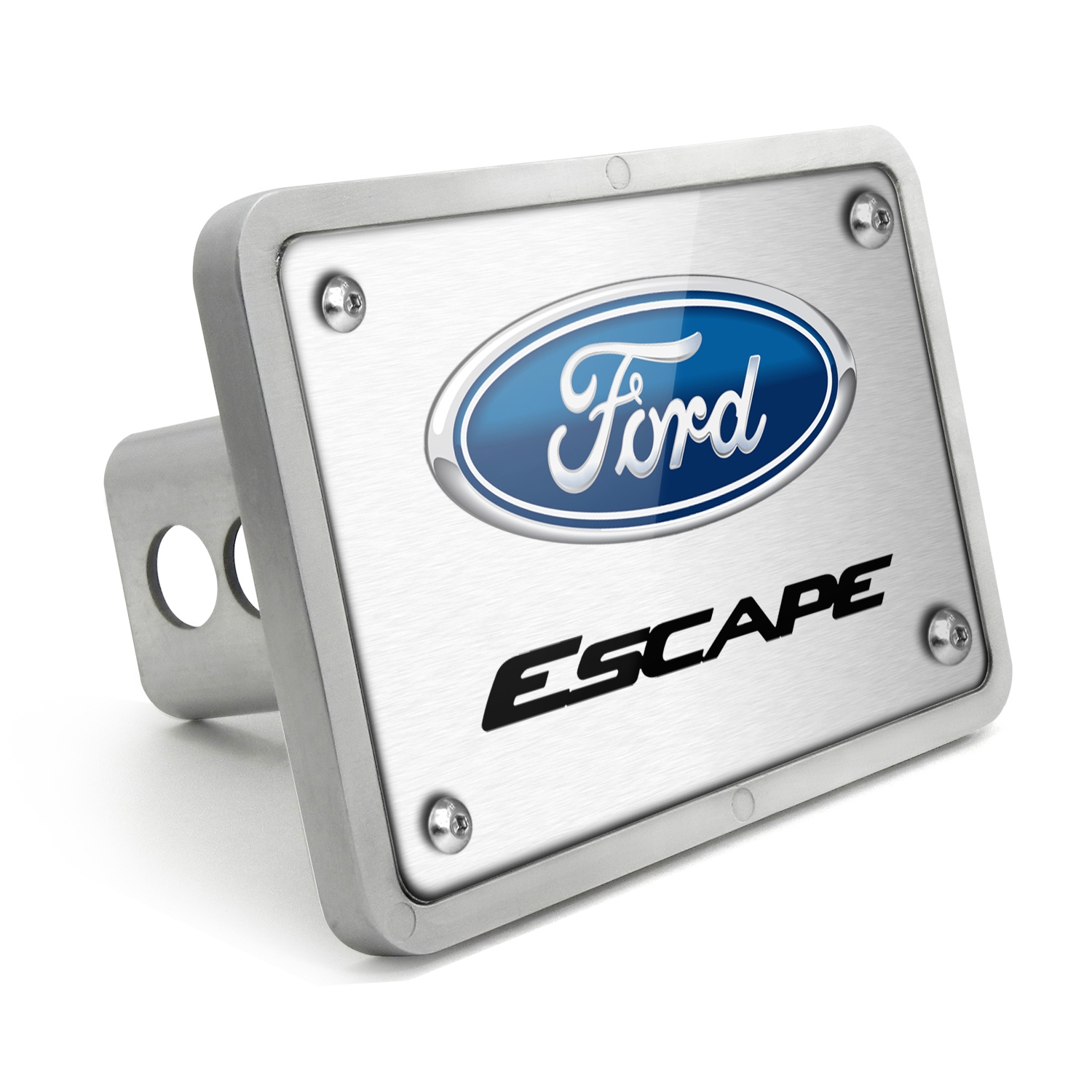 Ford Escape UV Graphic Brushed Silver Billet Aluminum 2 inch Tow Hitch Cover