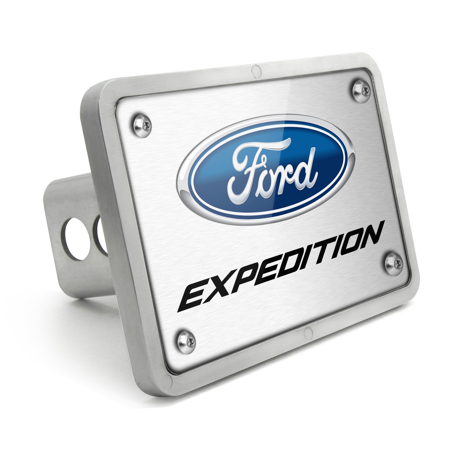 Ford Expedition UV Graphic Brushed Silver Billet Aluminum 2 inch Tow Hitch Cover