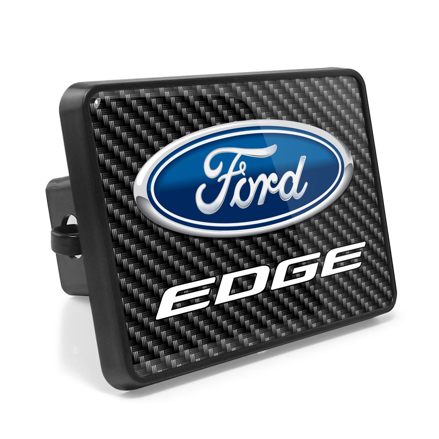 Ford Edge Carbon Fiber Look UV Graphic Metal Plate on ABS Plastic 2 inch Tow Hitch Cover