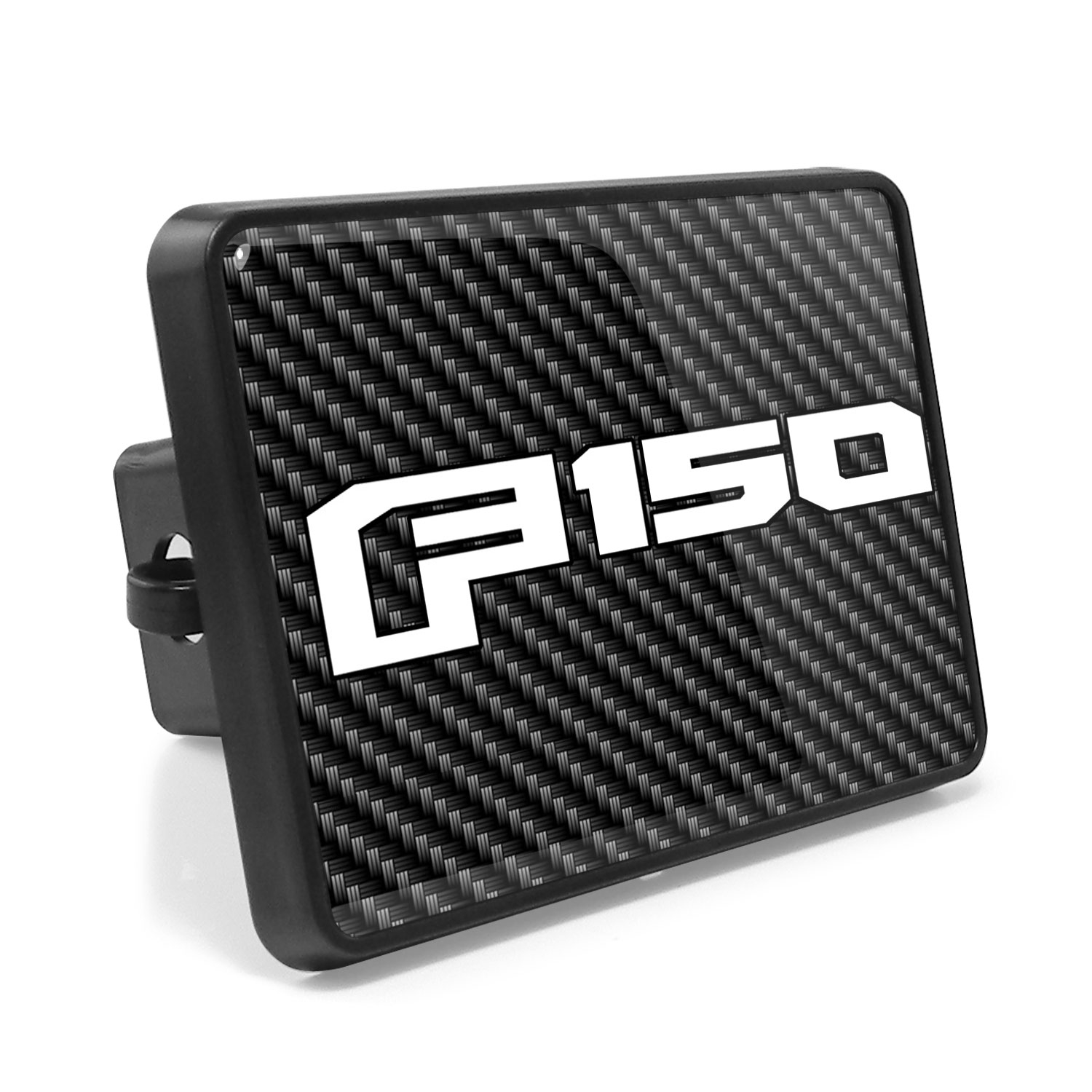 Ford F-150 2015-2017 Carbon Fiber Look UV Graphic Metal Plate on ABS Plastic 2 inch Tow Hitch Cover