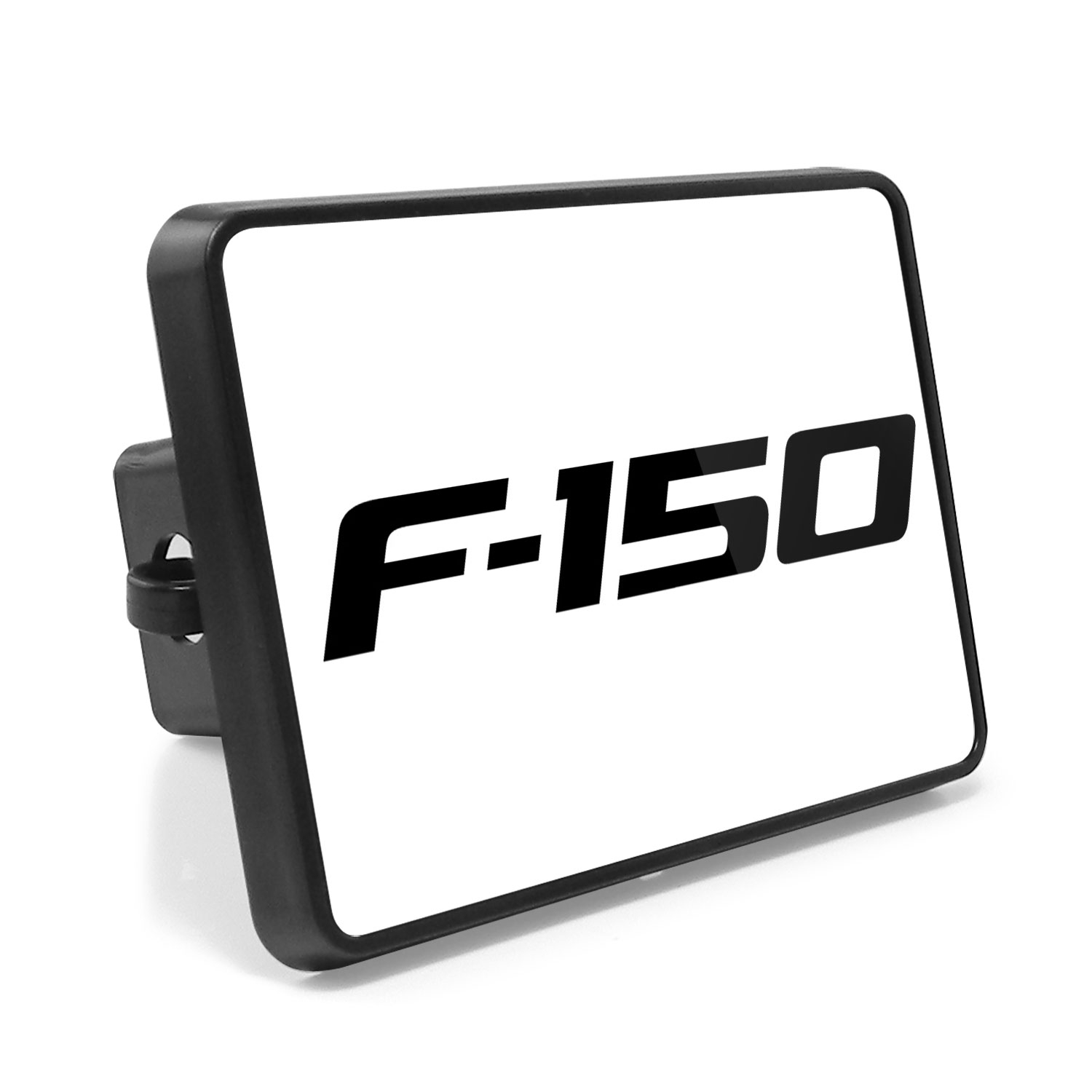 Ford F-150 2009-2014 UV Graphic White Metal Plate on ABS Plastic 2 inch Tow Hitch Cover