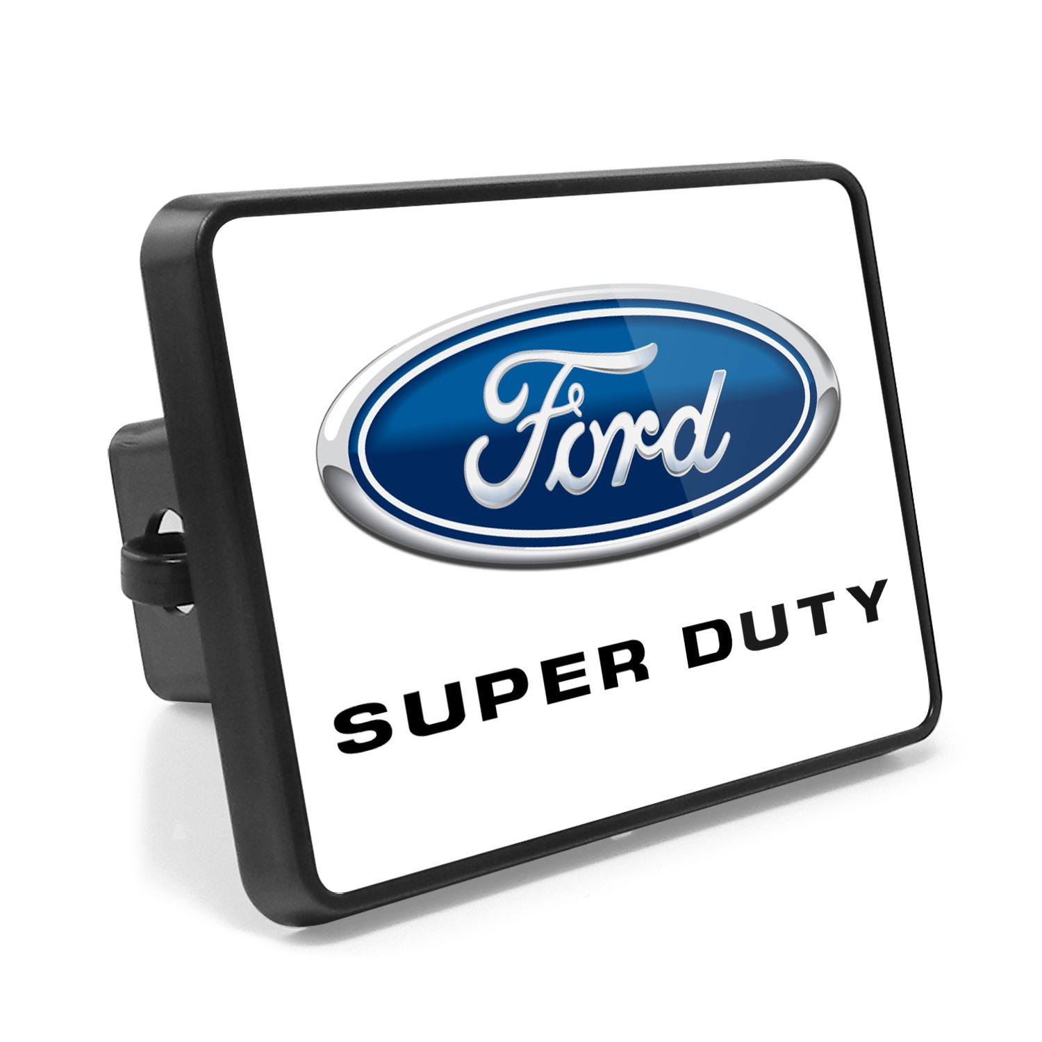 Ford F-Series Super Duty 2011 to 2016 UV Graphic White Metal Plate on ABS Plastic 2 inch Tow Hitch Cover