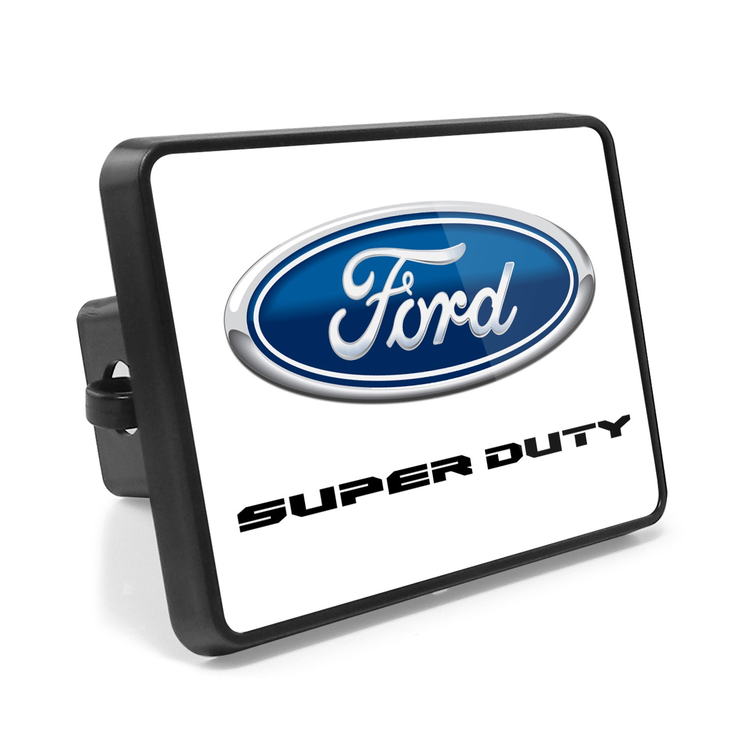 Ford F-Series Super Duty 2016 to 2017 UV Graphic White Metal Plate on ABS Plastic 2 inch Tow Hitch Cover