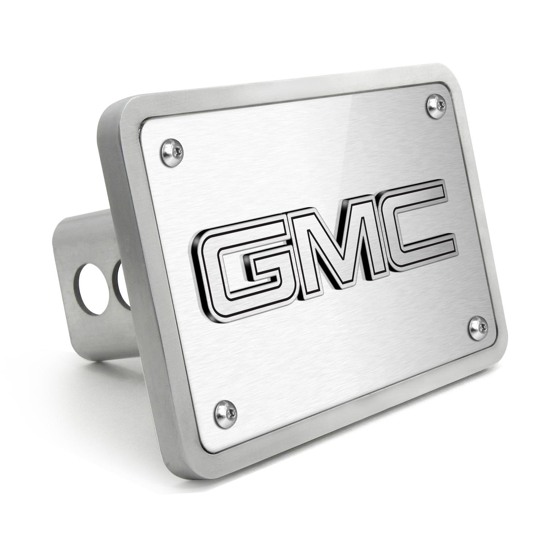 GMC 3D Logo Brush Billet Aluminum 2 inch Tow Hitch Cover
