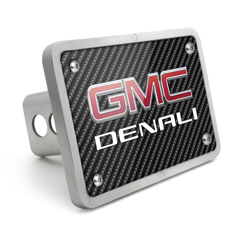 GMC Denali UV Graphic Carbon Fiber Texture Billet Aluminum 2 inch Tow Hitch Cover