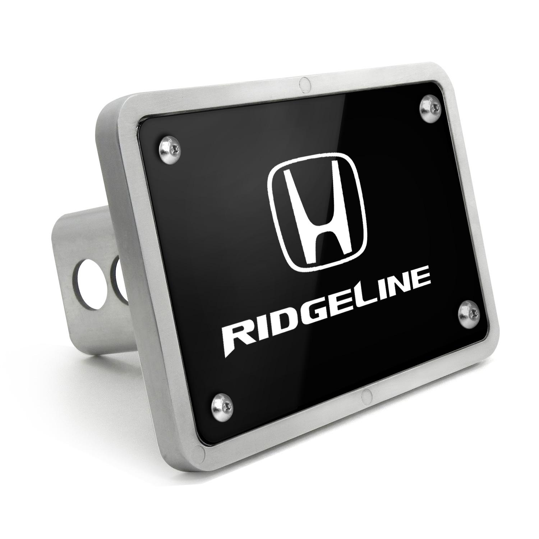 Honda Ridgeline UV Graphic Black Billet Aluminum 2 inch Tow Hitch Cover